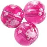 koraliki galactic przezroczyste różowe 14 mm