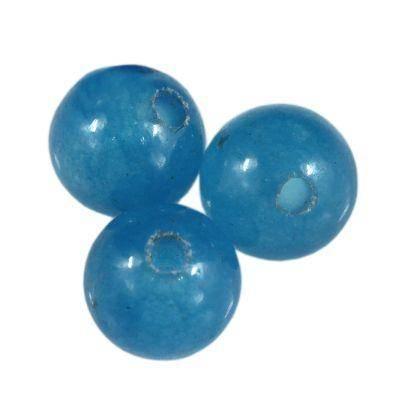 jadeit niebieski 4 mm kamień naturalny barwiony