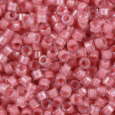 koraliki Miyuki Delica inside dyed rose pink 1.6 x 1.3 mm DB-70