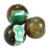 agat smocze oko zielony 10 mm kamień naturalny barwiony