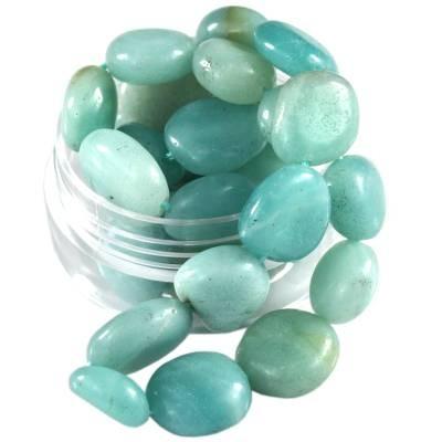 kamień gładki premium amazonit 7 - 12 mm kamień półszlachetny naturalny