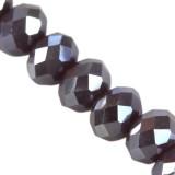 CrystaLine rondelle γραφίτη ΑΒ 4 x 6 χιλιοστά χάντρες / κρύσταλλο / crystal beads