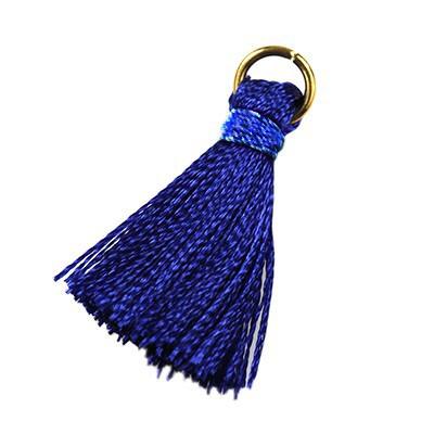 tassels blue 21 mm metal ring