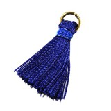 tassels blue 21 mm metal ring