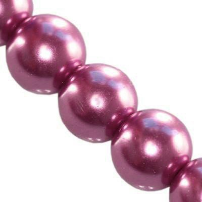 glass pearls heather 6 mm