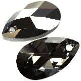 Swarovski pear-shaped pendants crystal silver night 22 mm
