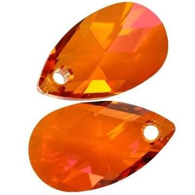 Swarovski pear-shaped pendants crystal astral pink 16 mm