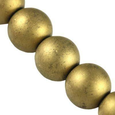 koraliki Lunar złote 12 mm