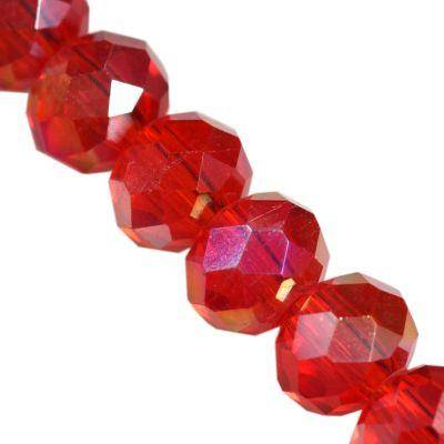 CrystaLine rondelle κόκκινο 3 χ 4 mm χάντρες AB / κρύσταλλο / crystal beads