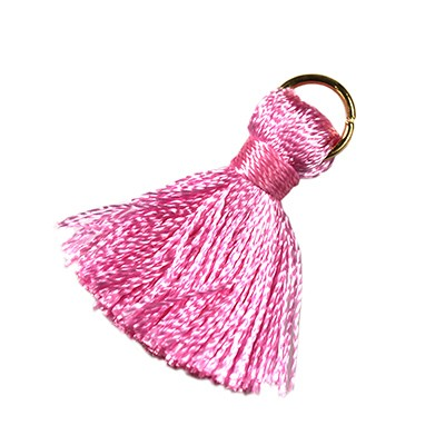 tassels pink 21 mm metal ring