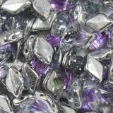 koraliki GemDuo violet ice 8 x 5 mm
