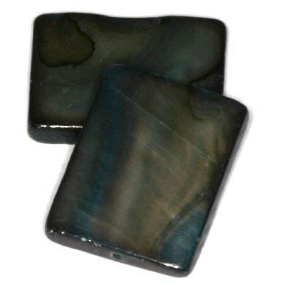 masa perłowa prostokąty 15 x 20 mm czarne