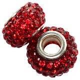 perles modulaires caramballa cristaux rouges 14 mm