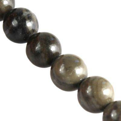 jasper coffee wooden beads 6 mm / semi-precious stone