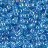 Toho beads round transparent-rainbow dk aqua 2.2 mm TR-11-163B