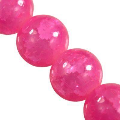 Crackle Jade neon pink 10 mm