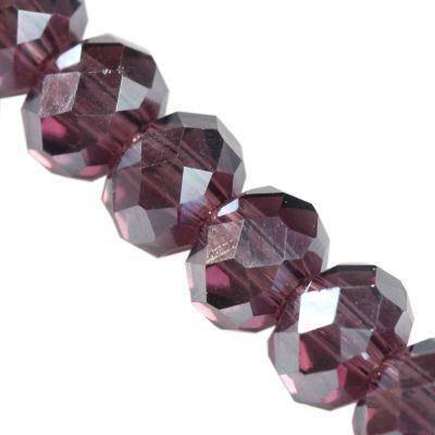 améthyste Crystaline de rondelle AB 3 x 4 mm / perles de cristal