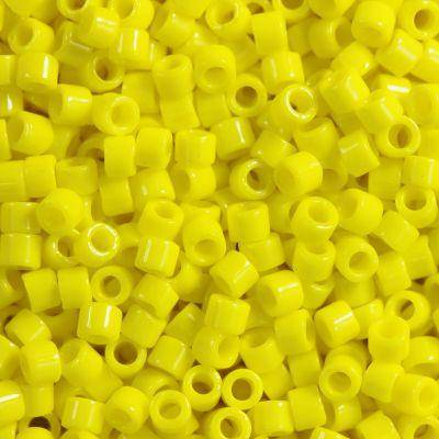 Miyuki perlas Delica opaque yellow 1.6 x 1.3 mm DB-0721