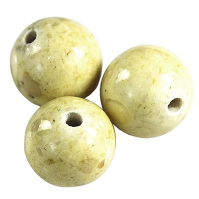 round beads marble dyed yellow 8 mm