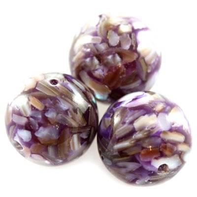 boules nacre violet 12 mm