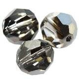 Swarovski round beads crystal silver night 6 mm