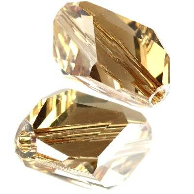 Swarovski cubist beads crystal golden shadow 12 x 8 mm