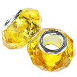 modular beads acrylic yellow 9 x 15 mm