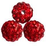 abalorios fimo bolas caramballa cristales rojos 8 mm