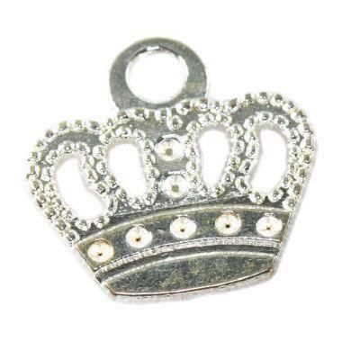 zawieszka korona duża 18,8 x 19,8 mm półfabrykaty do wyrobu biżuterii