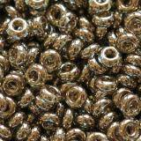 Toho beads demi round gold-lustered montana blue 2.2 mm TN-11-204