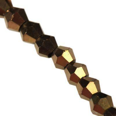 Crystaline toupies à revêtement de cuivre de 3 mm / perles de cristal