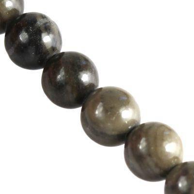 jasper coffee wooden beads 8 mm / semi-precious stone