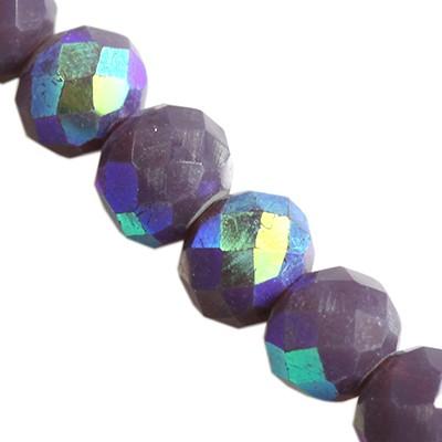 CrystaLine rondelle μοβ 3 χ 4 mm χάντρες AB / κρύσταλλο / crystal beads