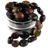 kamień gładki premium oko tygrysa miks 7 - 12 mm kamień półszlachetny naturalny