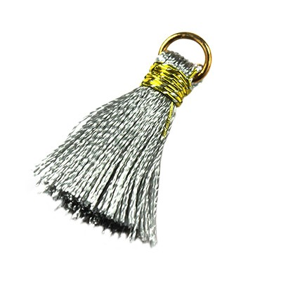 tassels silver 21 mm metal ring