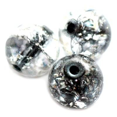 crackle beads beads black color inside 8 mm