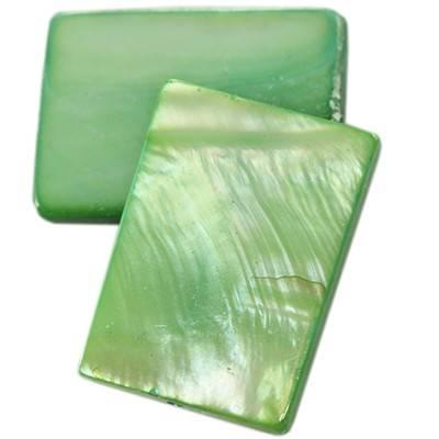 masa perłowa prostokąty 15 x 20 mm zielone