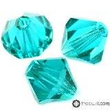 Swarovski bicone beads blue zircon 4 mm