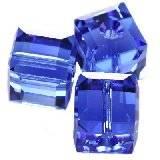 Swarovski cubes beads sapphire 8 mm