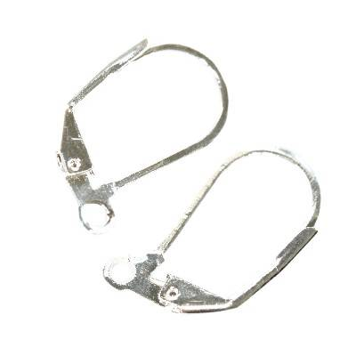 ear wires basic 17,5 mm silver color jewellery findings