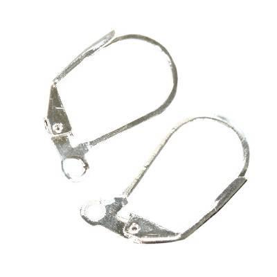 supports boucles d'oreilles argentés basilare 17,5 mm