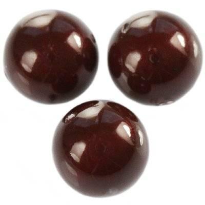 Swarovski crystal pearl maroon 10 mm