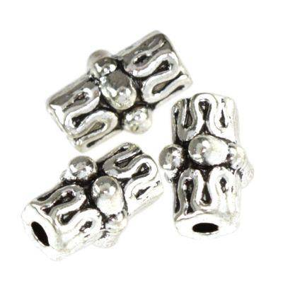 metal bugle beads rings 6 x 10 mm