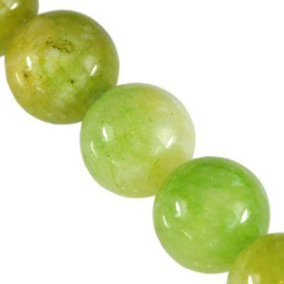 persia jade beads green 6 mm / semi-precious stone dyed