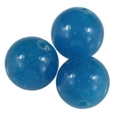jadeit niebieski 12 mm kamień naturalny barwiony