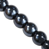 Bubble Beads AB hematite 8 mm