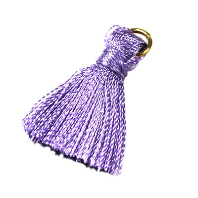 tassels violet 21 mm metal ring