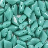 koraliki GemDuo green opaque 8 x 5 mm