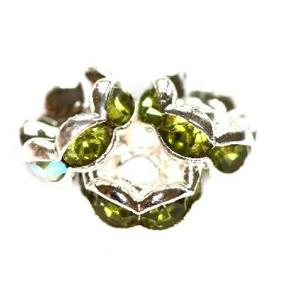 spacers rings with zircons olivine 6 mm