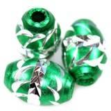 ovals aluminium beads emerald 8,5 x 12,5